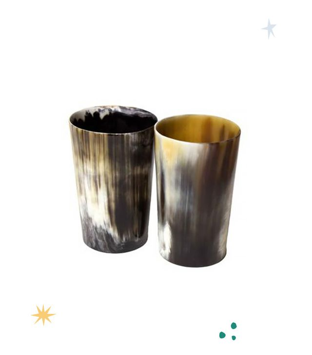 AccompanyUs Be Home Horn Tumblers Set of 2