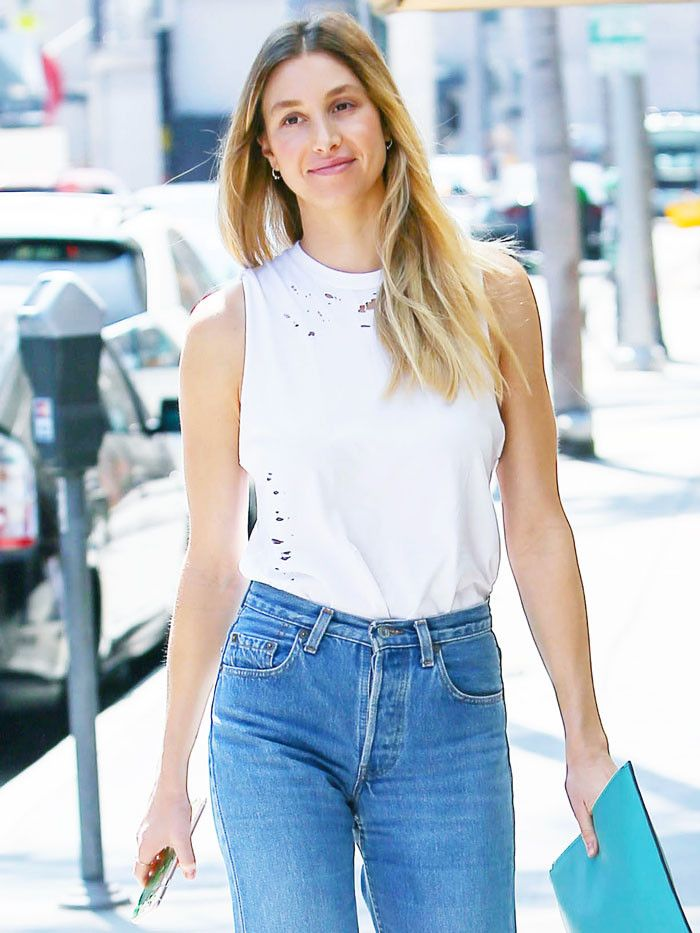 936a4a040b Whitney Port Wore the Chicest Under-$100 Top to Her Sister's Wedding | Who  What Wear