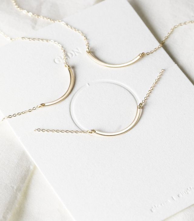 GLDN Circle Friendship Necklace, Set of 2