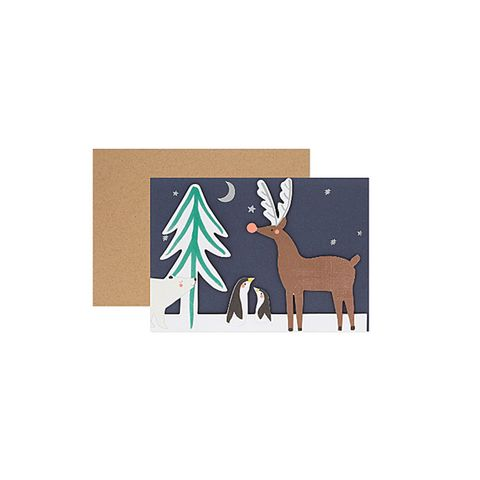 Woodland concertina christmas card