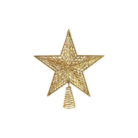 Gold Glitter Wire Tree Star