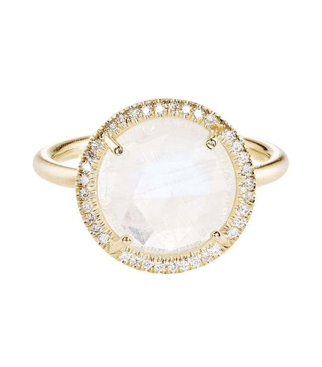 Irene Neuwirth Rainbow Moonstone Yellow Gold Ring