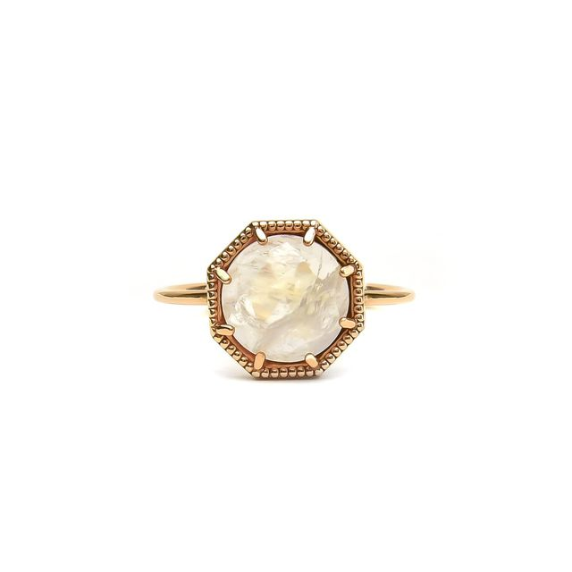 Grace Lee Maman Crown Bezel Moonstone Ring