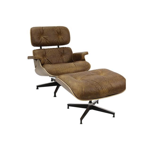 Matt Blatt Replica Eames Lounge Chair and Ottoman