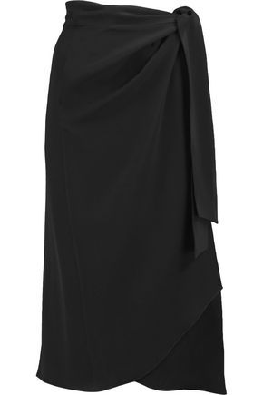 Bezak Satin-Crepe Wrap Skirt