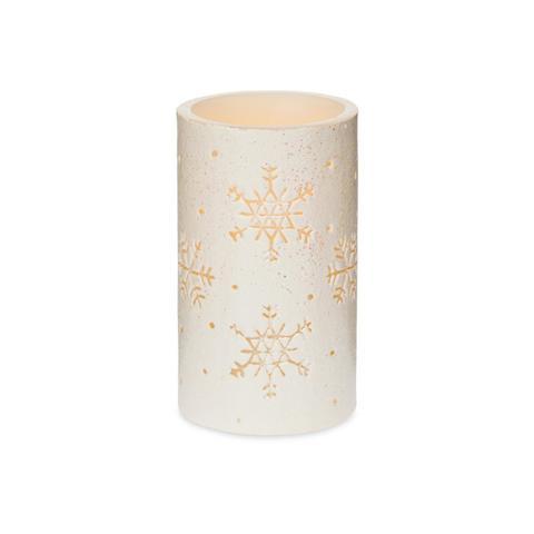 Candle Large Snowflake LED White