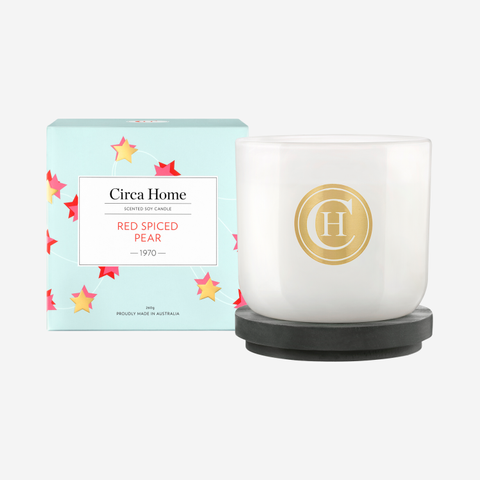 Red Spiced Pear Classic Candle