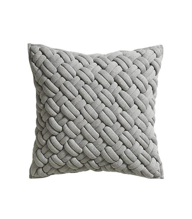 CB2 Jersey Interknit Pillow