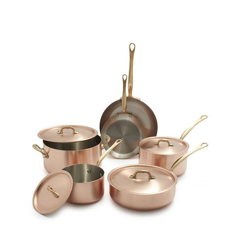 M'brushed Copper 12-Piece Cookware Set