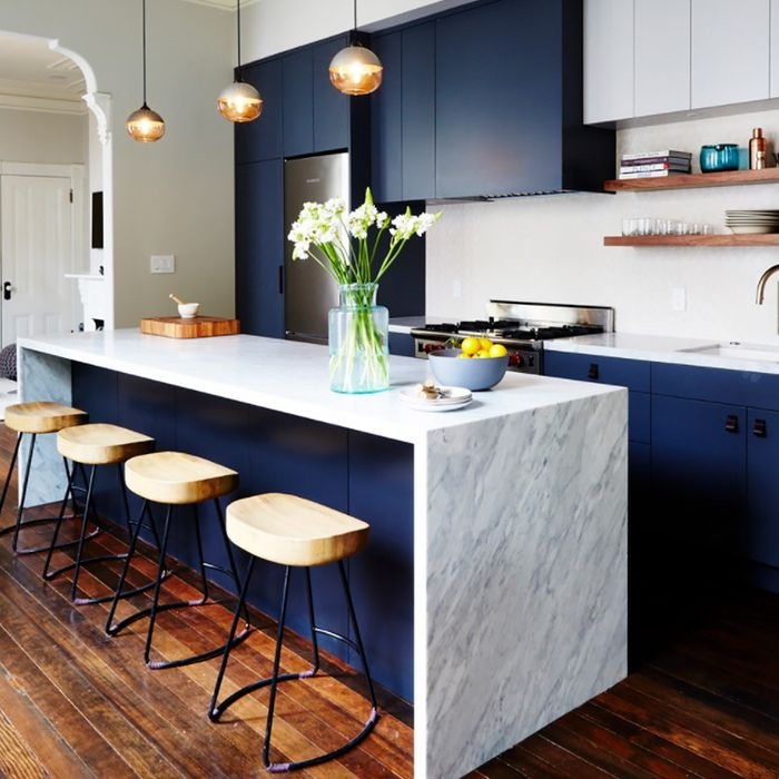 Blue Kitchens Are 2017\'s Latest Decor Trend | MyDomaine