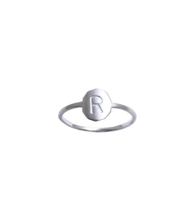 Ginny Reynders Personalised Initial Ring in Sterling Silver