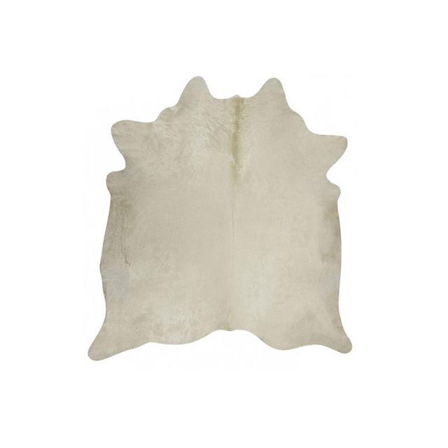 Temple & Webster Natural White Cow Hide Rug