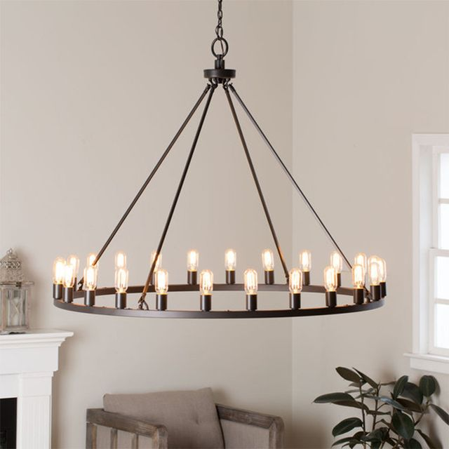 I Love Living Hemsworth Oil Rubbed Bronze 24-light Chandelier