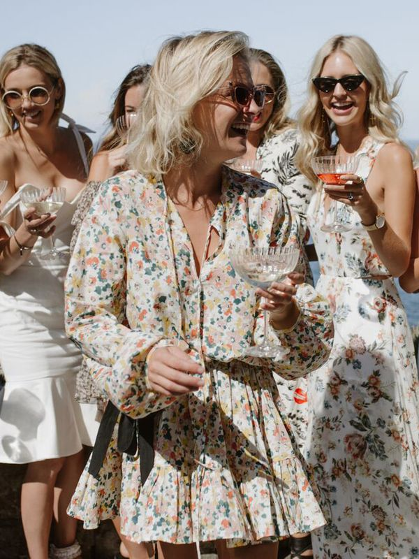 <p><strong>WHO:</strong> Nadia Fairfax</p> <p>You can't go past a short floral dress and tinted shades for a Christmas soirée.</p>