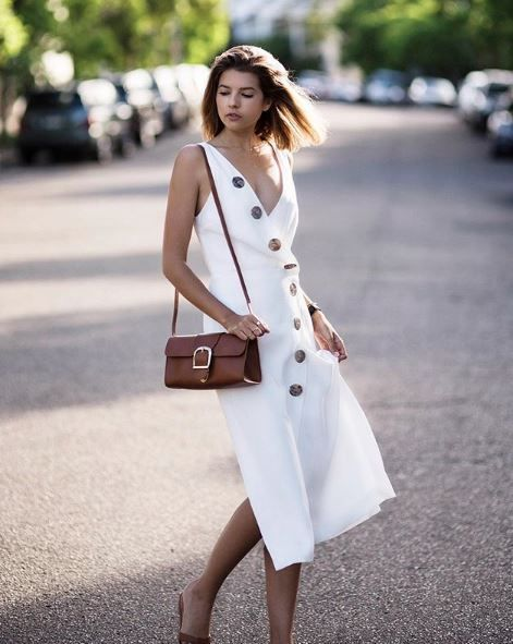 <p><strong>WHO:</strong> Talisa Sutton</p> <p>A midi dress is your answer to long lunches with the family.</p>