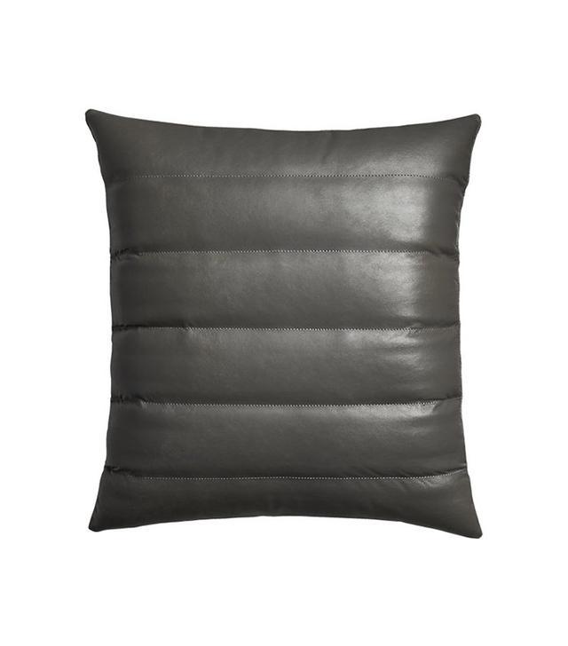 CB2 Izzy Black Leather Pillow