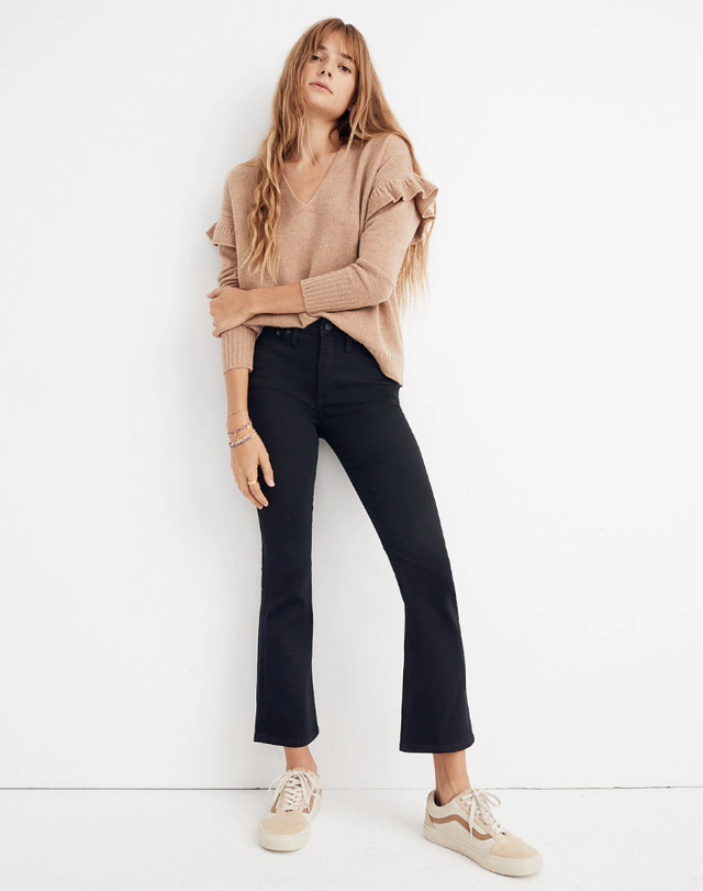 Madewell Cali Demi-Boot Jeans in Black Frost: Tencel™ Edition