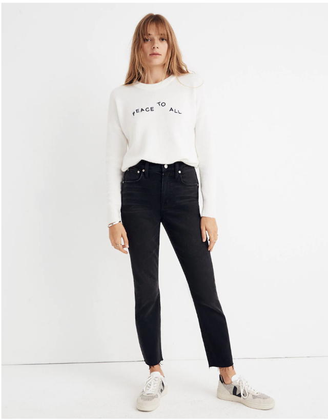 Madewell The High-Rise Slim Boyjean in Lunar Wash