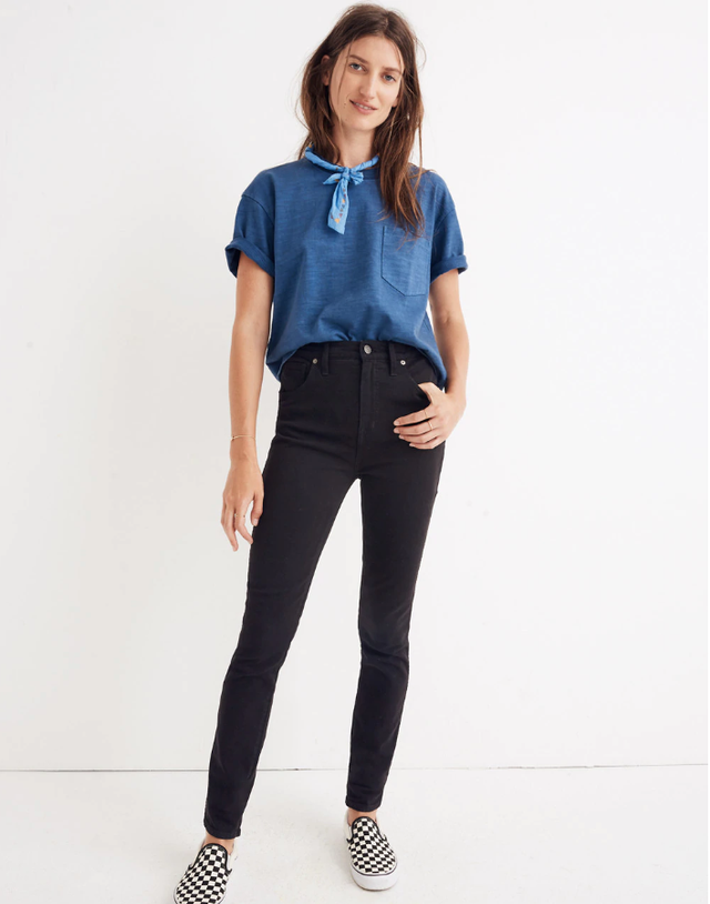 "Madewell 10"" High-Rise Skinny Jeans in Johnny Wash: Comfort Stretch Edition"