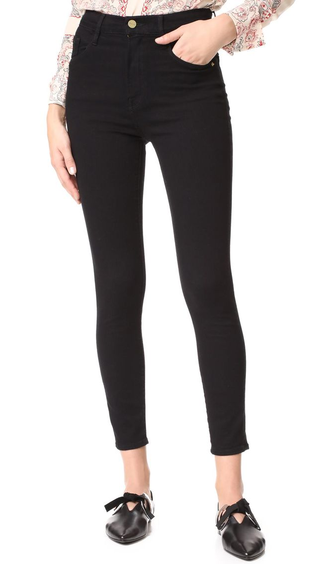 Frame Ali High Rise Skinny Cropped Cigarette