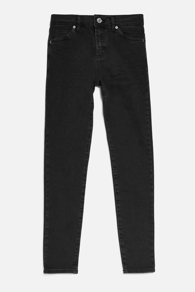 Topshop Washed Black Sidney Jeans