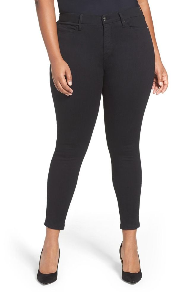 GOOD AMERICAN Women's Good American Good Legs High Rise Skinny Jeans