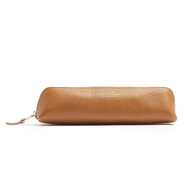 Burlington grained-leather pencil case