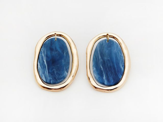 Valet Studio Rachelle Earrings In Navy
