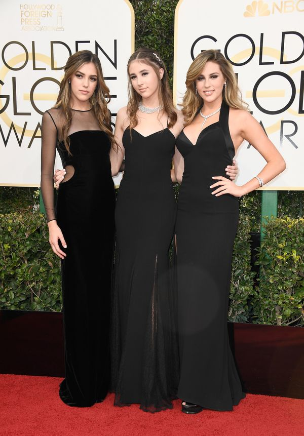 <p><strong>WHO:</strong> Sistine Stallone, Scarlet Stallone, and Sophia Stallone</p> <p><strong>WHAT:</strong> Miss Golden Globes</p>