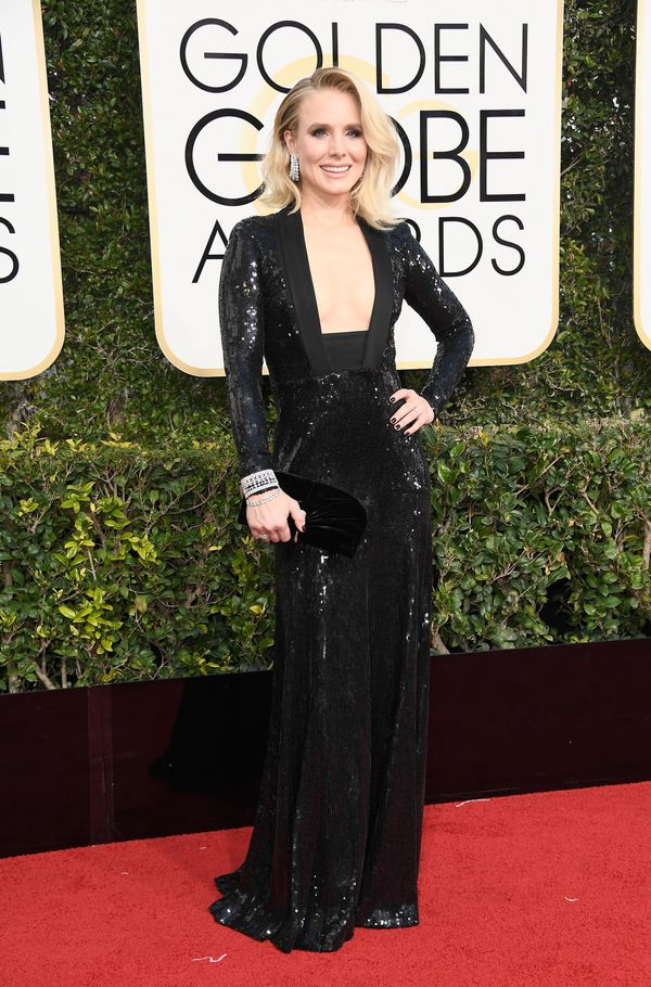 <p><strong>WHO:</strong> Kristen Bell</p> <p><strong>WHAT:</strong> Actress</p> <p><strong>WEAR:</strong> Jenny Packham</p>