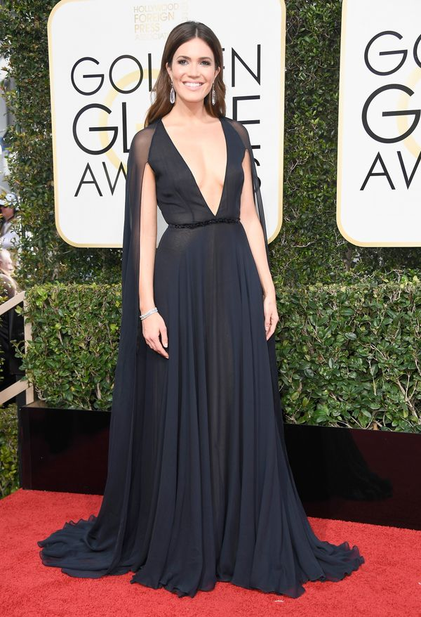 <p><strong>WHO:</strong> Mandy Moore</p> <p><strong>WHAT:</strong> Actress</p> <p><strong>WEAR:</strong> Naeem Khan dress</p>