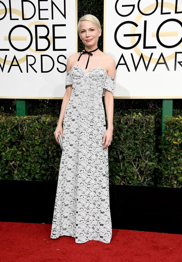 <p><strong>WHO:</strong> Michelle Williams</p> <p><strong>WHAT:</strong> Actress</p> <p><strong>WEAR:</strong> Louis Vuitton dress</p>