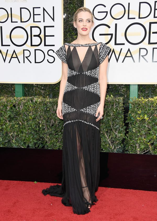 <p><strong>WHO:</strong> Riley Keough</p> <p><strong>WHAT:</strong> Actress</p> <p><strong>WEAR:</strong> Chanel gown</p>