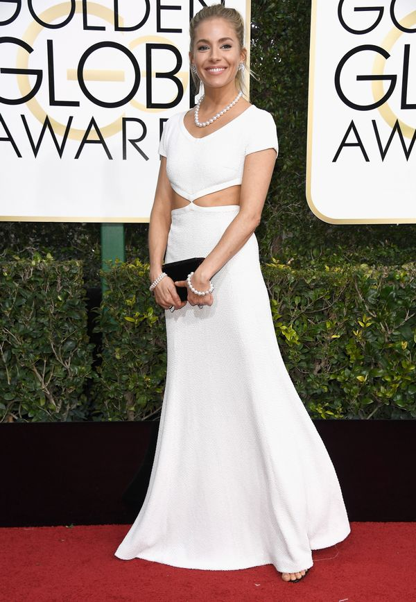 <p><strong>WHO:</strong> Sienna Miller</p> <p><strong>WHAT:</strong> Actress</p> <p><strong>WEAR:</strong> Michael Kors dress</p>