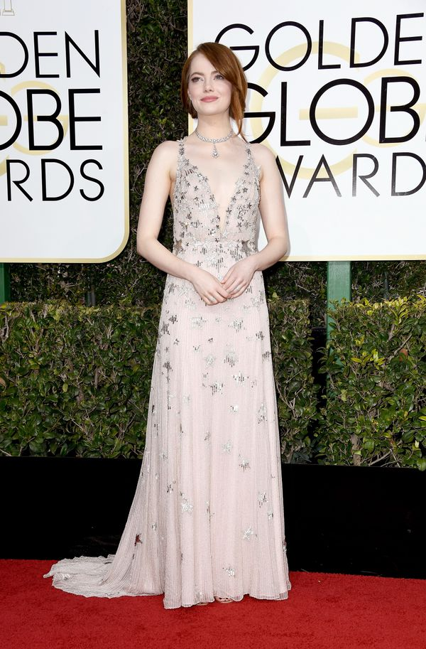 <p><strong>WHO:</strong> Emma Stone</p> <p><strong>WHAT:</strong> Actress</p> <p><strong>WEAR:</strong> Valentino dress</p>