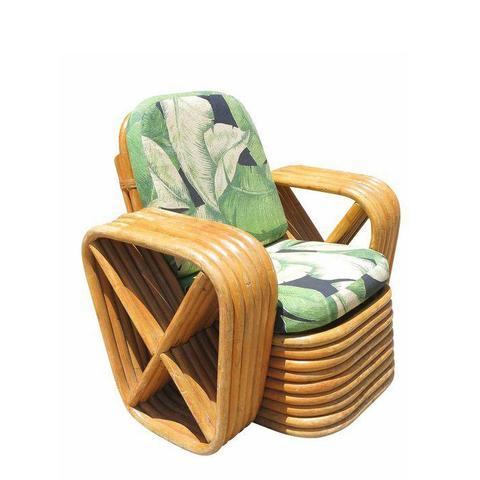 Pretzel Rattan Lounge Chair