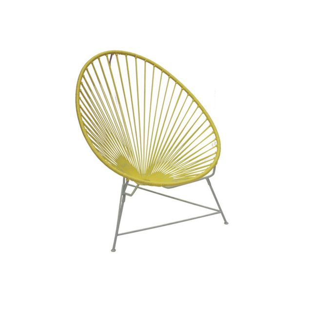 Temple & Webster Yellow & White Classic Acapulco Chair