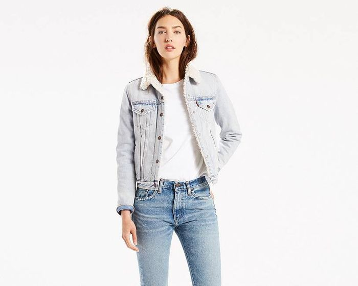 5dbae7d5170db3 shop similar styles. Pinterest · Shop · Levi s Authentic Sherpa Trucker  Jacket ...