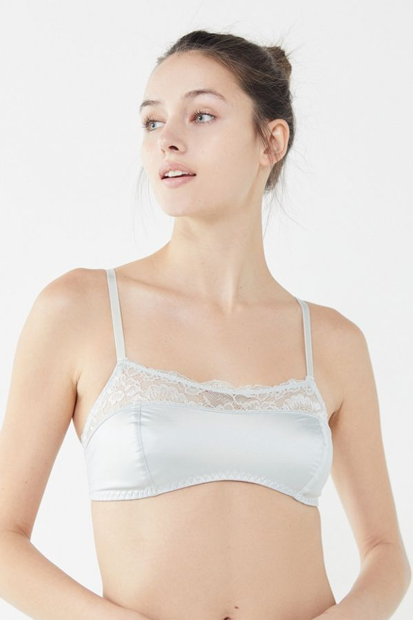 Out From Under Satin Lace Trim Bralette