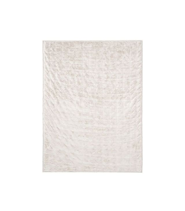 Pottery Barn Ruched Faux Fur Oversized Throw