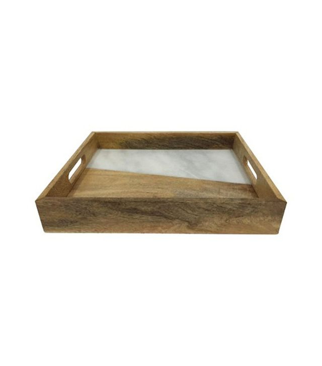 Target Wood & Marble Inlay Tray