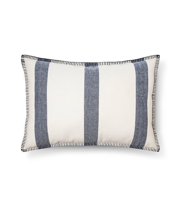 Target Blue Wide Stripe Oblong Throw Pillow