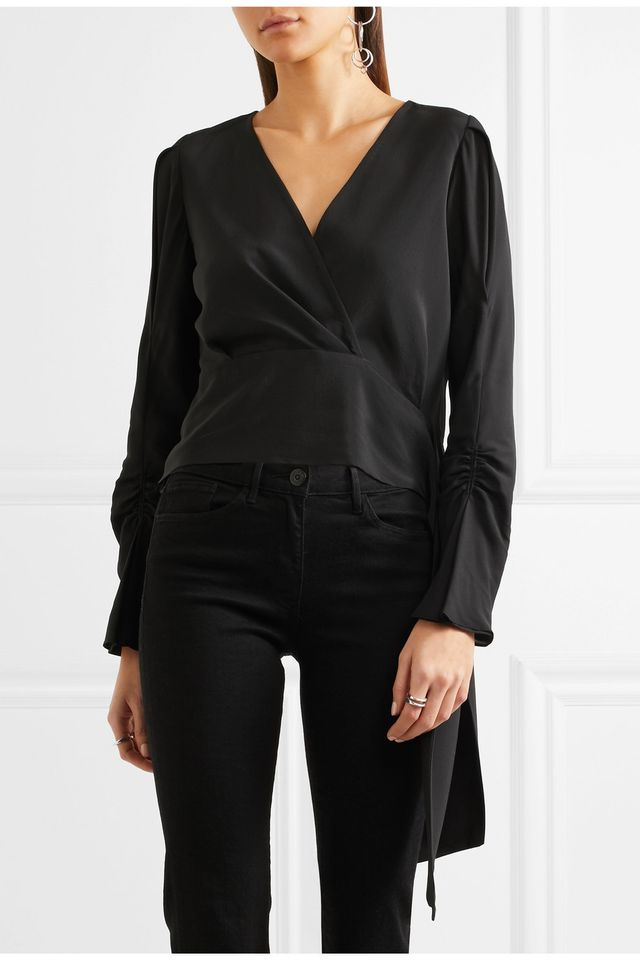 T by Alexander Wang Tie Knot Blouse
