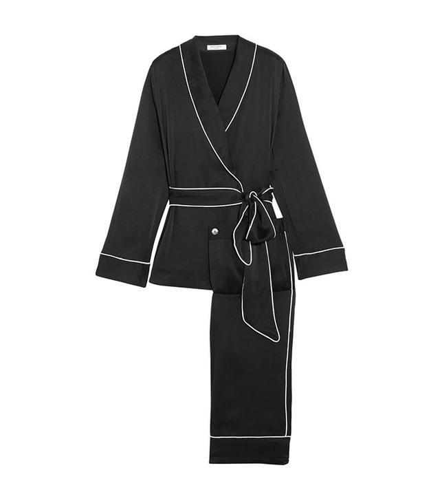 Equipment Odette Washed-silk Pajama Set