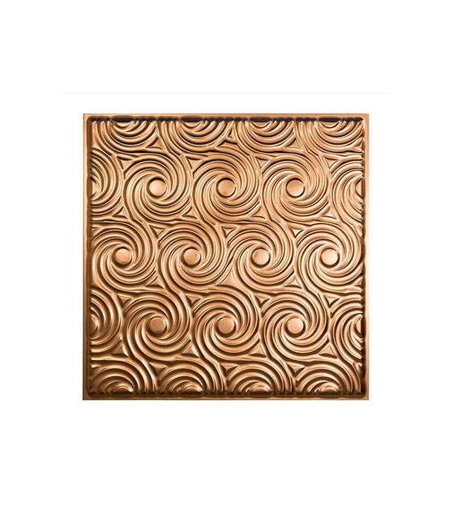 Fasade Cyclone Polished Copper 2' x 2' Lay-In Ceiling Tile
