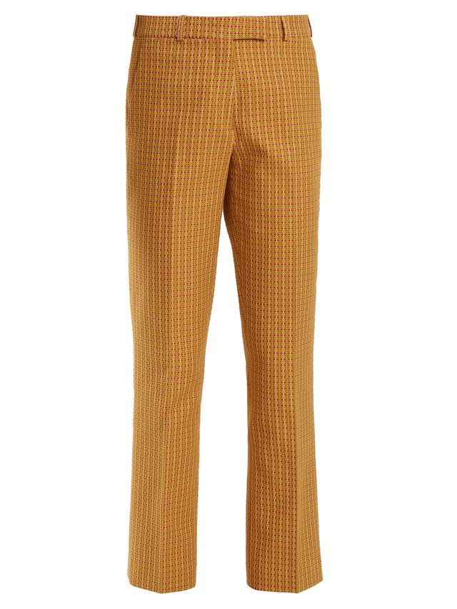 J.Crew Quilina Cropped Printed Silk-twill Straight-leg Pants