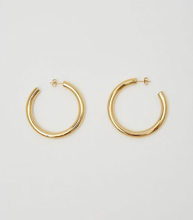 Bagatiba Gold Hollow Hoops