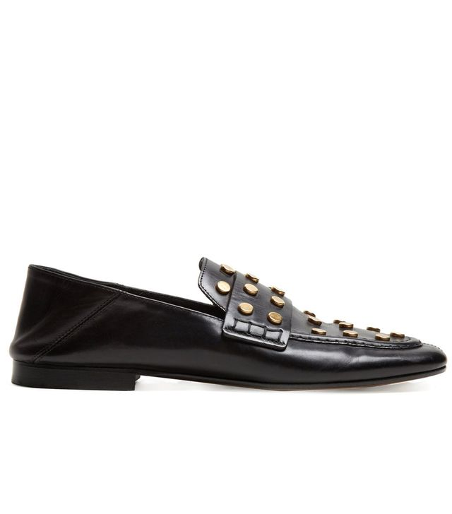 Feenie collapsible-heel leather loafers