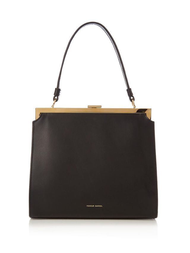 Metropolitan top-handle leather bag