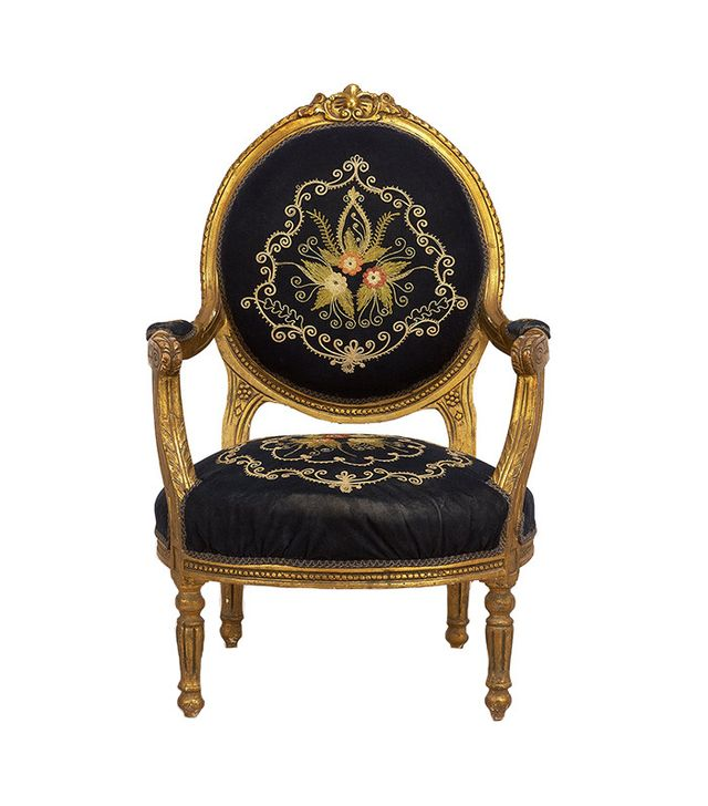 Antique Embroidered Arm Chair